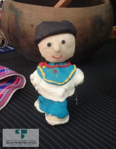 Figura de masapan para decoración en fiestas de quito
